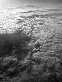 Une mer de nuage en Noir et Blanc
