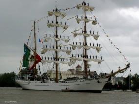 Arrivée à Bordeaux du voilier-école Mexicain Cuauhtémoc